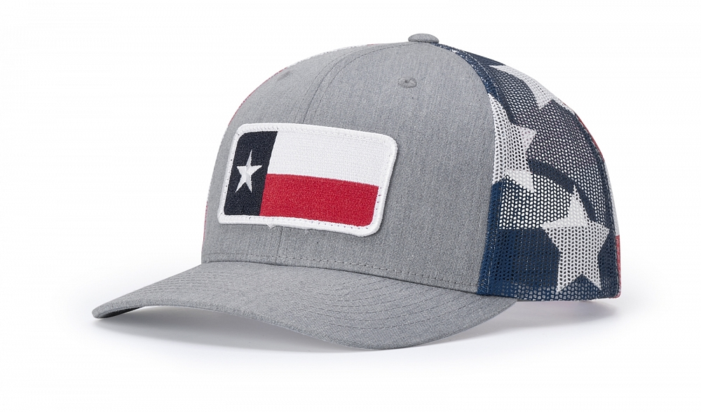 112PM heather Grey/Stars and Stripes