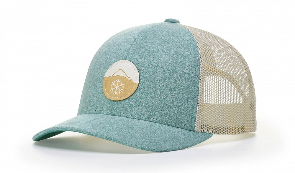 115CH Front-View Green Teal Heather/Birch Split Colors