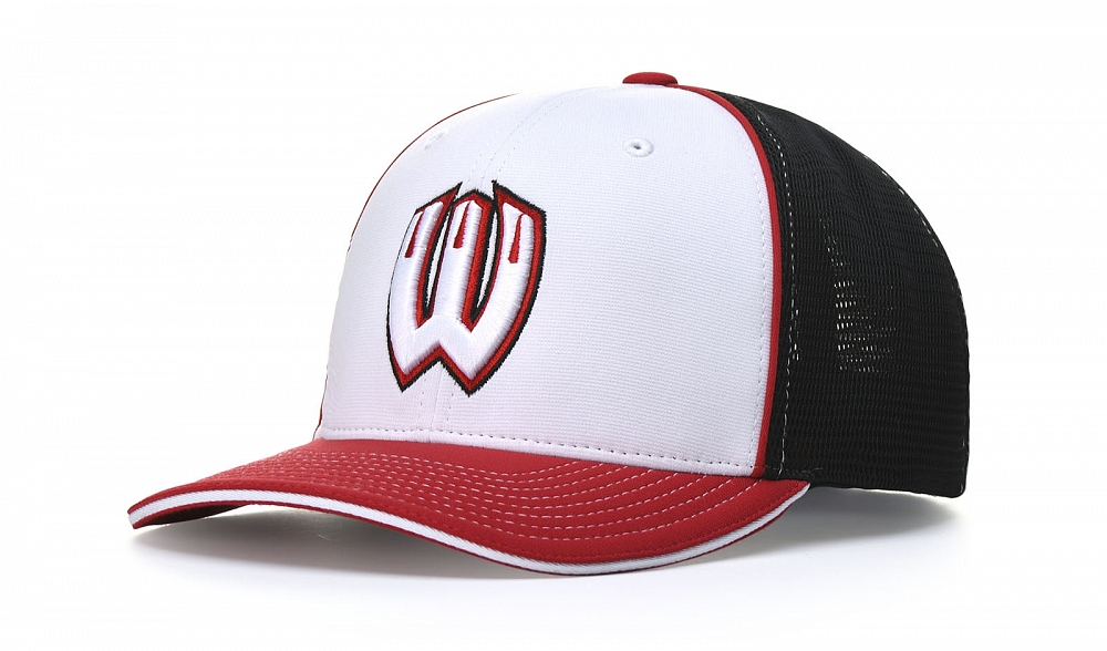 172 Front-View Tri-Colors. White/Black k/Red