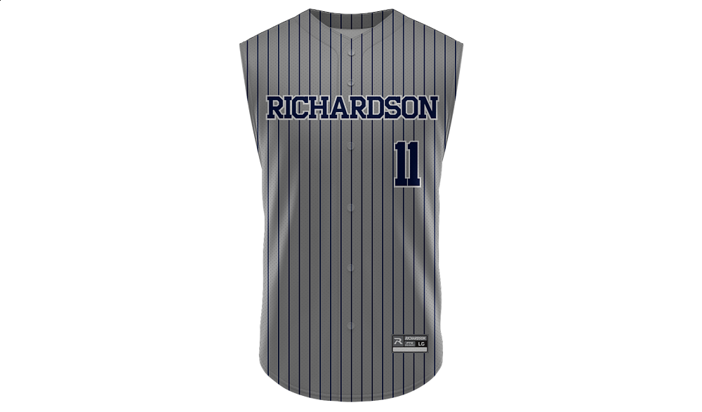 Sublimated Full Button Sleeveless Jersey Design 01