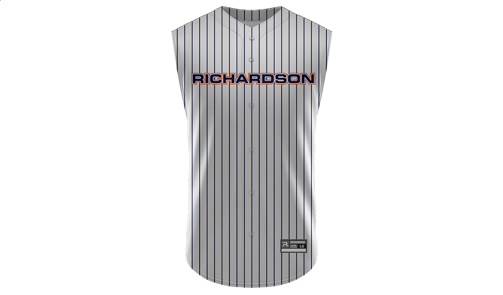Sublimated Full Button Sleeveless Jersey Design 02