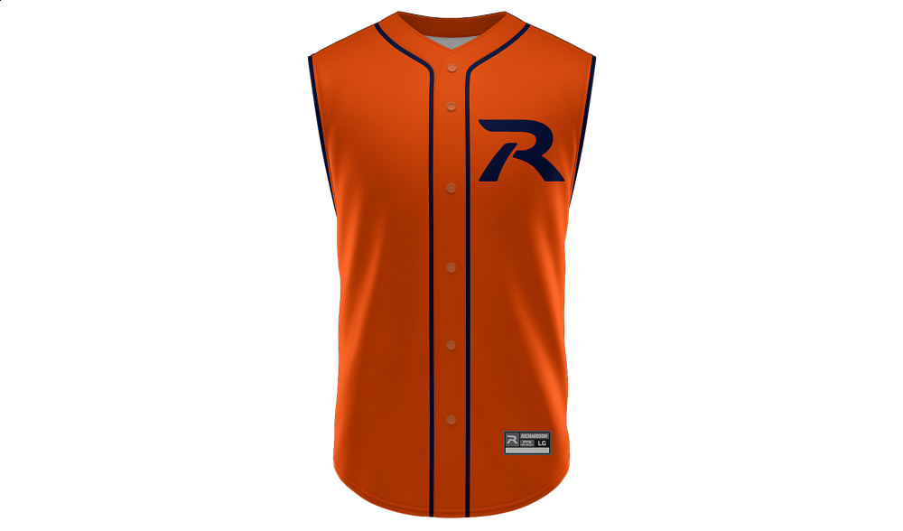 Sublimated Full Button Sleeveless Jersey Design 04