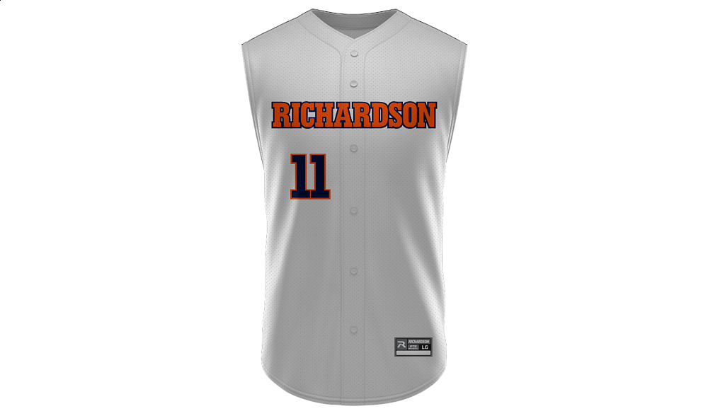 Sublimated Full Button Sleeveless Jersey Design 05