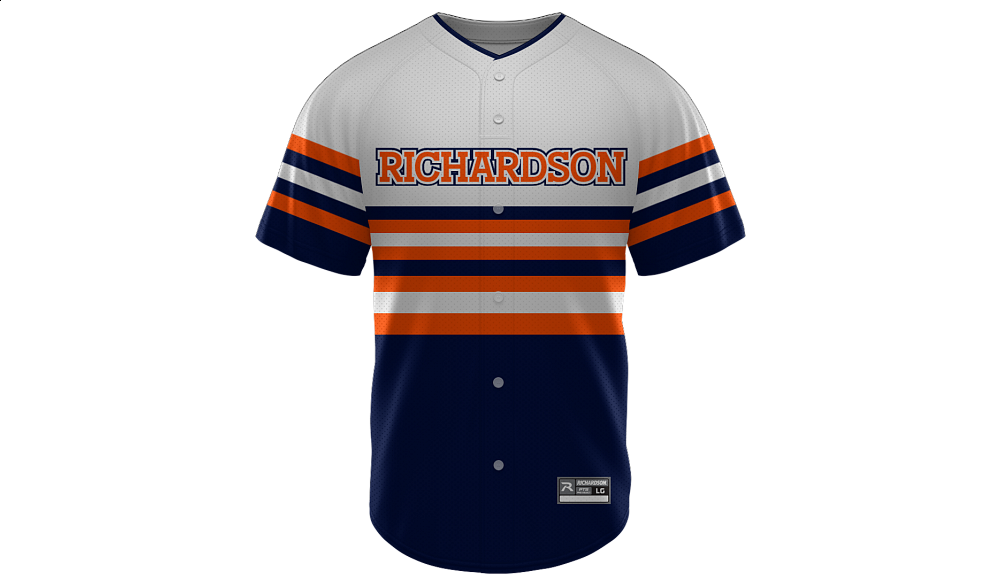 Sublimated Faux Full Button Jersey Design 02