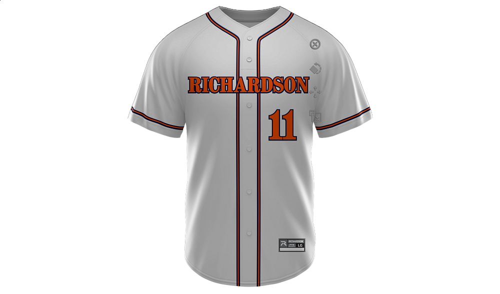 Sublimated Faux Full Button Jersey Design 07