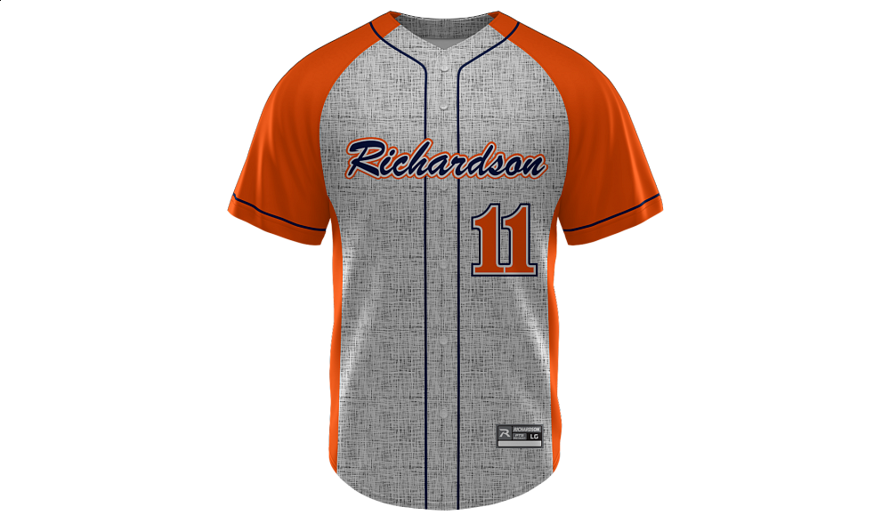 Sublimated Faux Full Button Jersey Design 10