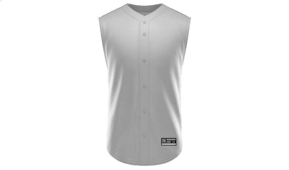 Sublimated Faux Full Button Sleeveless Jersey BLANK TEMPLATE