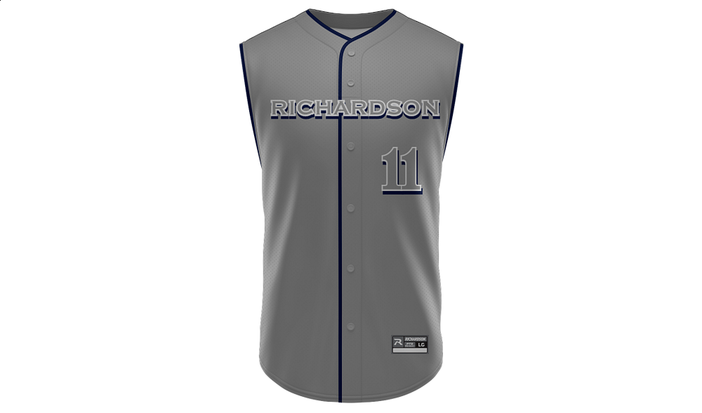 Sublimated Faux Full Button Sleeveless Jersey Design 03