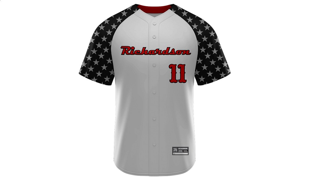 Sublimated Full Button Jersey Design 09