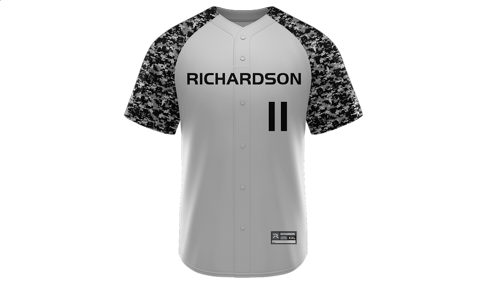 Sublimated Faux Full Button Jersey Design 01