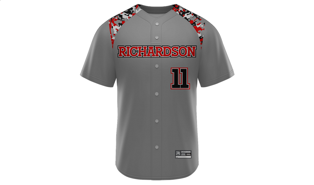 Sublimated Faux Full Button Jersey Design 03