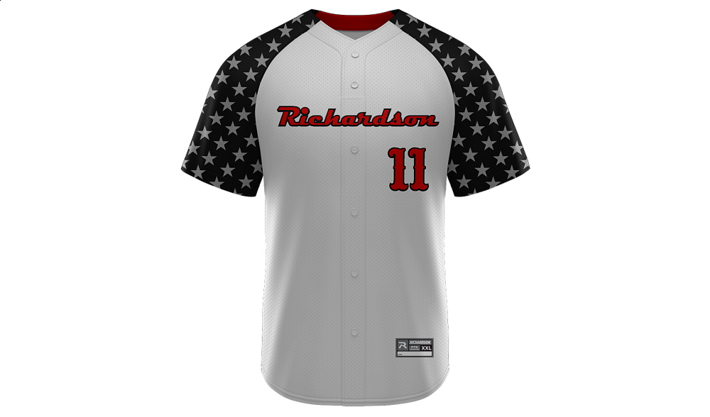 Sublimated Faux Full Button Jersey Design 09