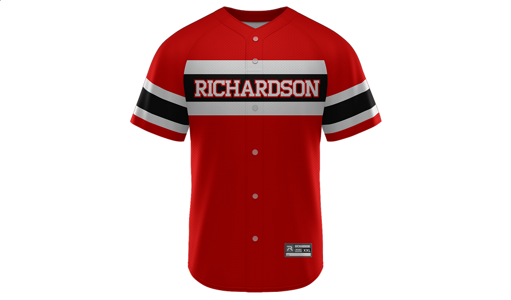 Sublimated Faux Full Button Jersey Design 17