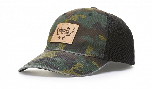 111PGARMENT WASHED CAMO TRUCKER. Stock. Customize Cap 2ecbfcdf67cc