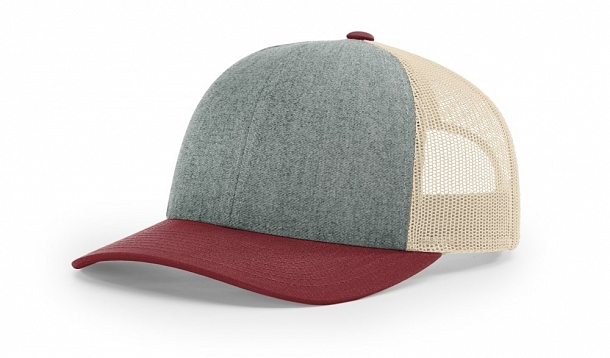 115 Front-View Heather Grey/Birch/Light Cardinal