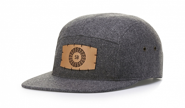 5 PANEL MELTON WOOL STRAPBACK
