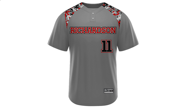 Sublimated 2-Button Jersey Design 03