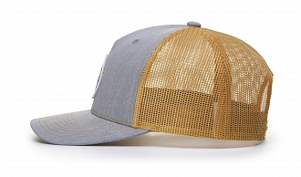 112FP Side-View  Heather Grey/Amber Gold Split Colors