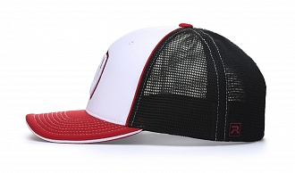 172 Back-View Tri-Colors, White/Black/Red
