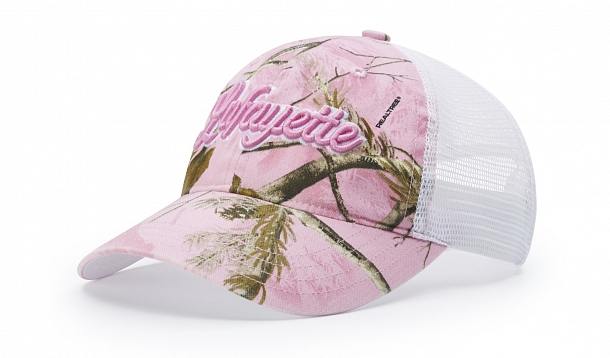 GARMENT WASHED CAMO TRUCKER